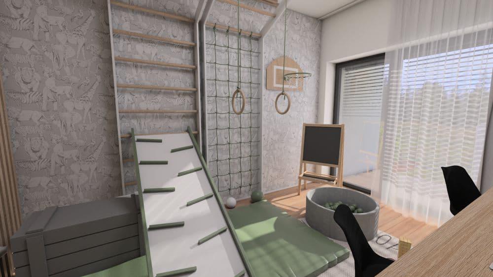 3D návrh dětského pokoje a herny pro 2 chlapce slide 3