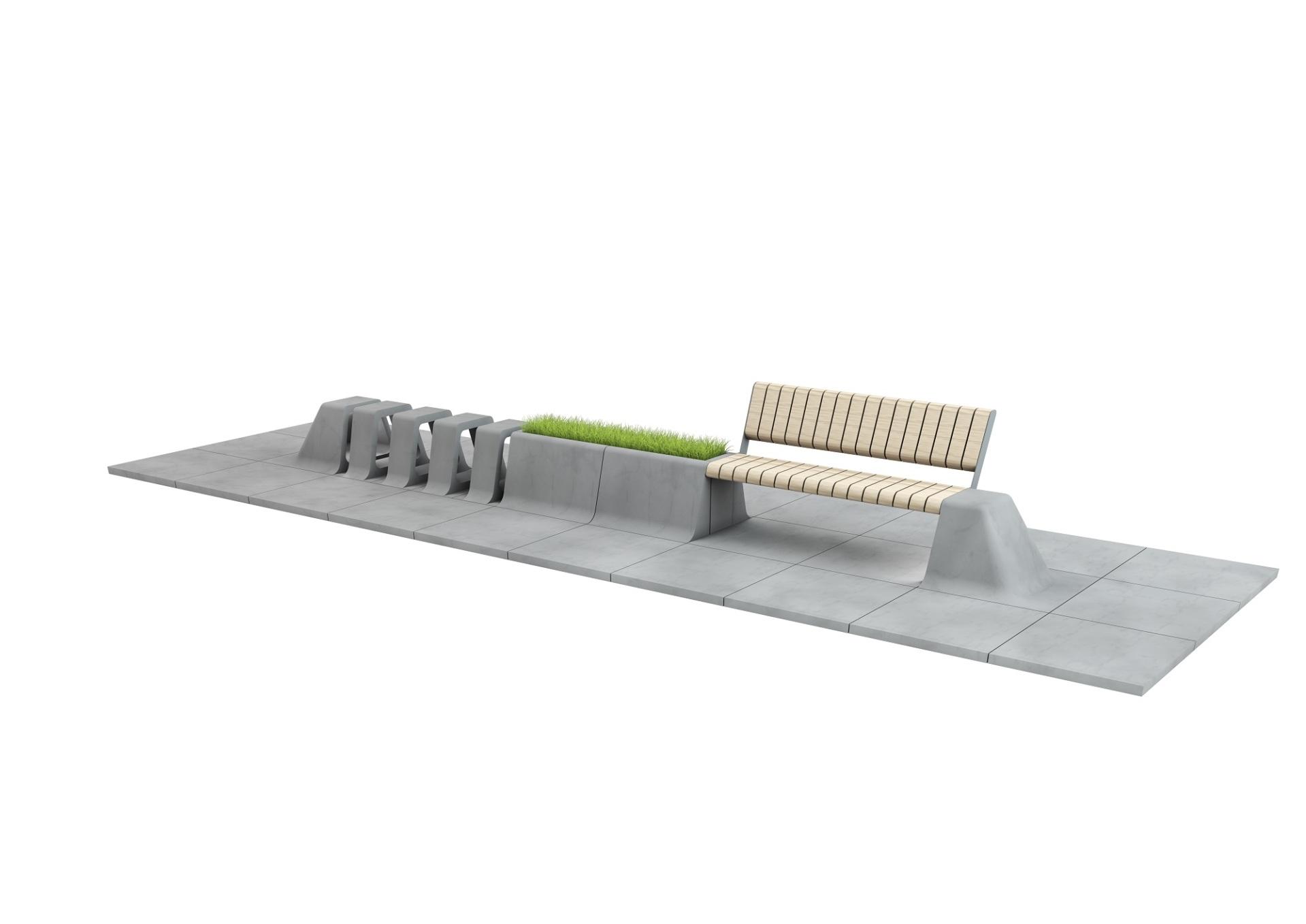 Městský mobiliář a dlažba slide 4