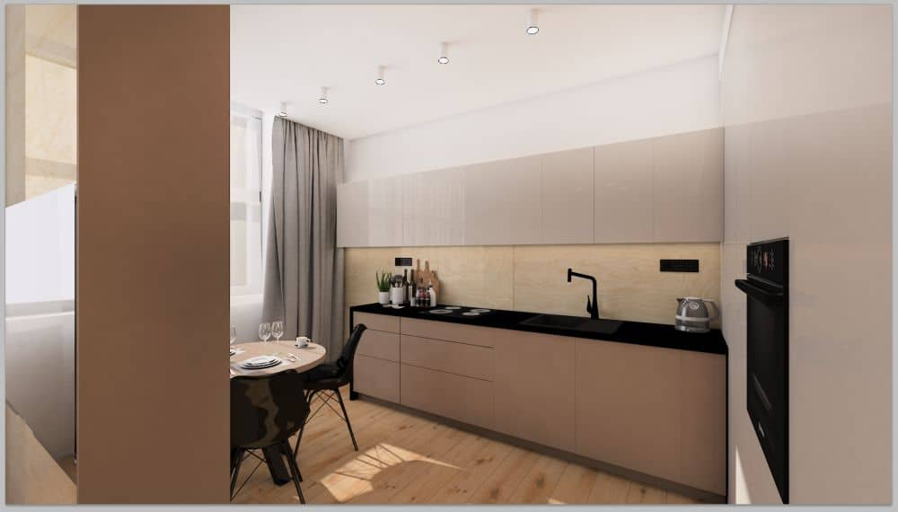 Vizualizace pánského bytu s moderním interiérem slide 2