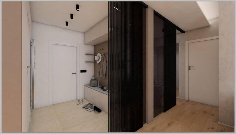 Vizualizace pánského bytu s moderním interiérem slide 3