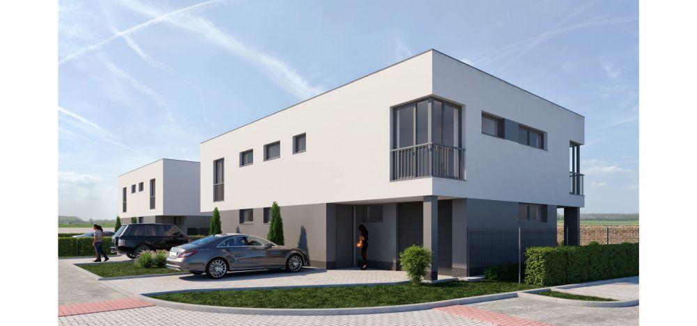 Moderní dvojdomky | Rodinné domy Hajany u Brna slide 2