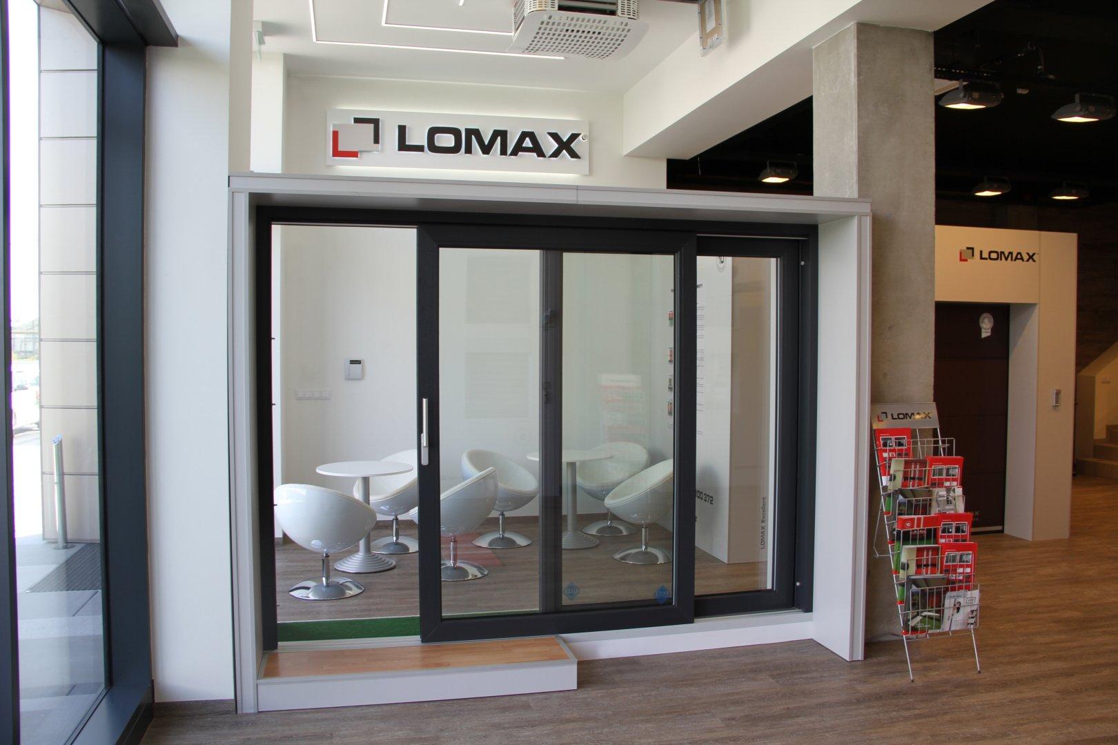 Vchodové hliníkové dveře LOMAX Aktiv 77 slide 1