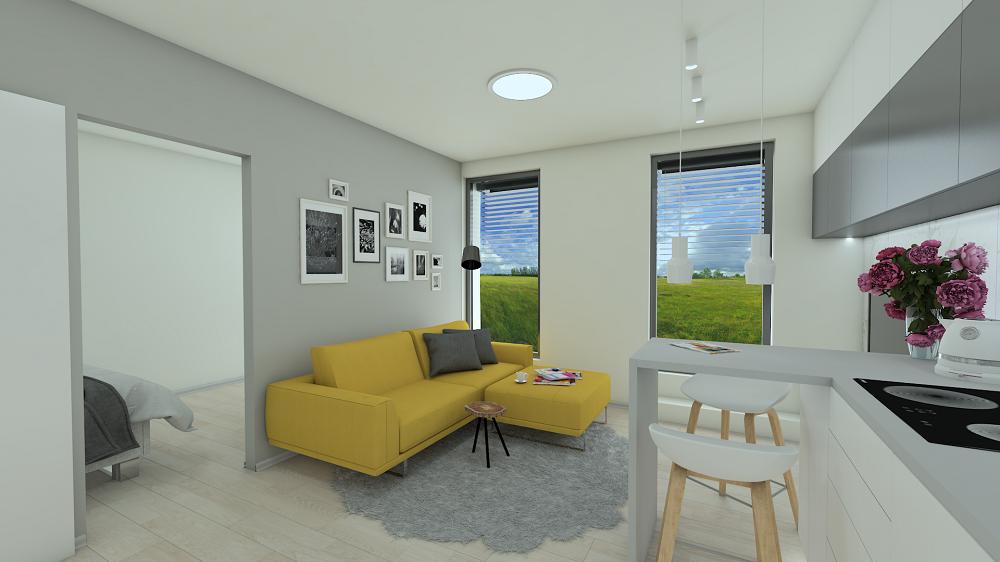 Návrh interiéru malého bytu Fridrichová design Kaštanová