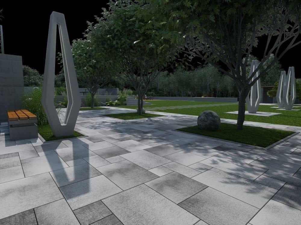 šedá betonová dlažba presbeton pct