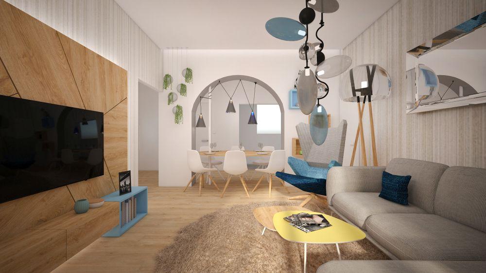 Návrh interiéru malého bytu Archami Kaštanová