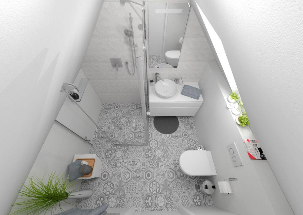 Návrh malé koupelny Keraservis