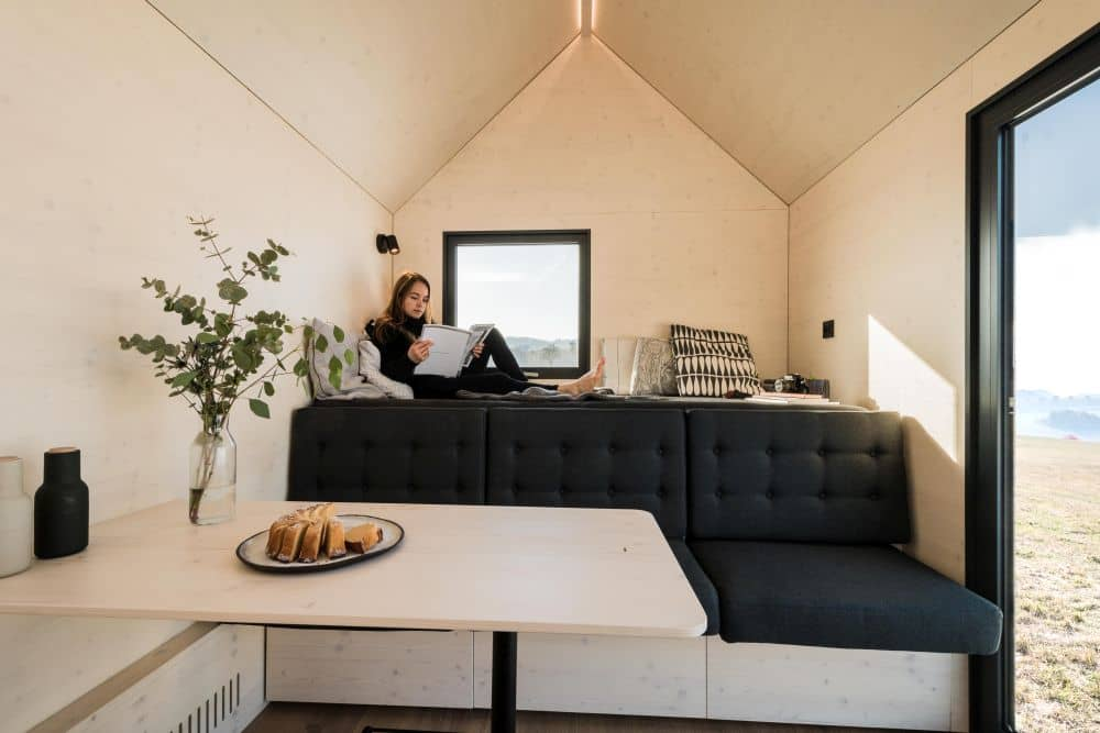 mobilní domek s okny schueco