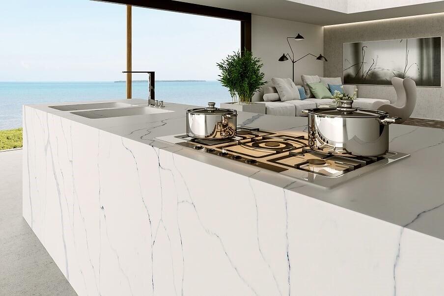 Kuchyňská deska Technistone Calacatta Amnis